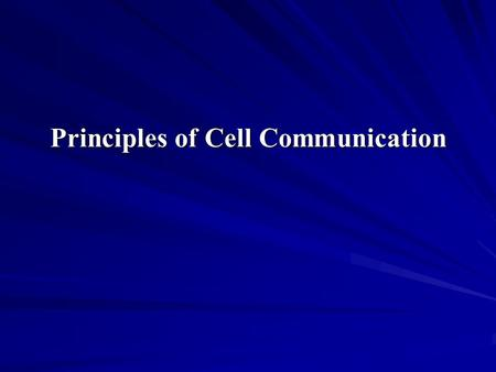 Principles of Cell Communication. Extracellular signal molecules bind to specific receptors Cells communicate by hundreds of signal molecules. These include.