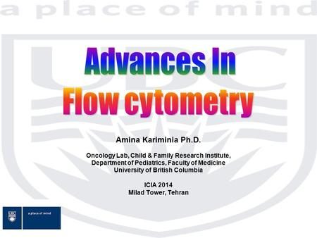 Advances In Flow cytometry Amina Kariminia Ph.D.