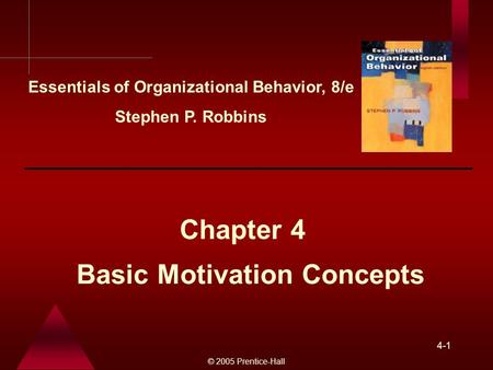 Basic Motivation Concepts