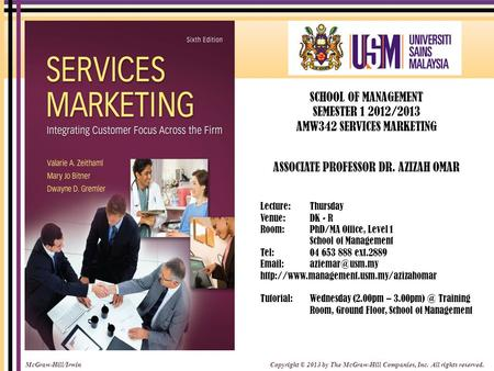 AMW342 SERVICES MARKETING