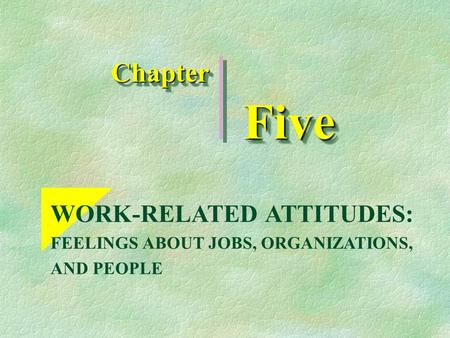 work related attitudes Full length article the relationship between social media co-worker connections  and work-related attitudes gordon b schmidt a,  , ariel m lelchook b, james.