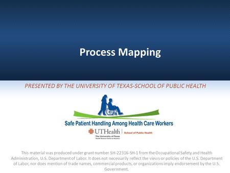 Presented By The University of Texas-School of Public Health
