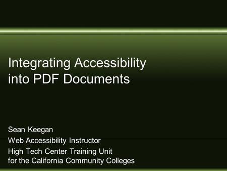 Strategies for math science accessibility ron stewart for Accessible pdf documents