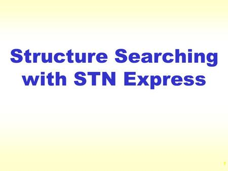 Structure Searching with STN Express