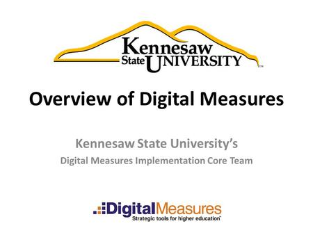 Overview of Digital Measures