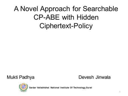 Hierarchical id-based cryptography ppt