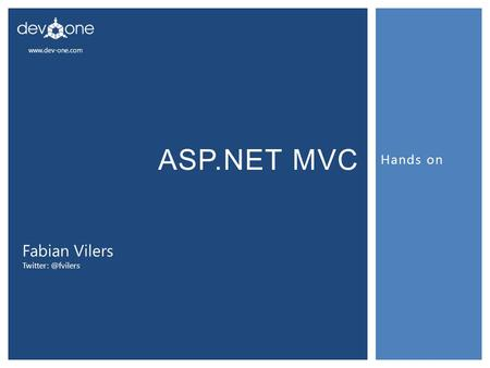 Fabian Vilers Hands on ASP.NET MVC.