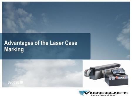 Advantages of the Laser Case Marking Sept 2010. Agenda Using laser to code on cartons Commercial benefits of laser coding Technical advantages of laser.