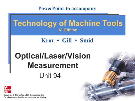 Optical/Laser/Vision Measurement
