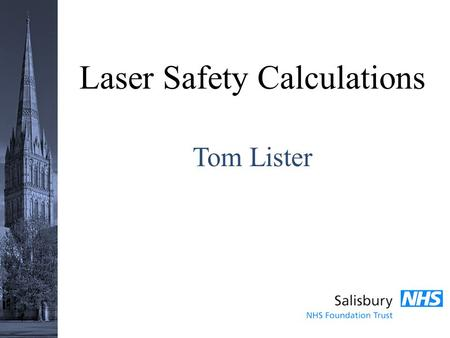 Laser Safety Calculations