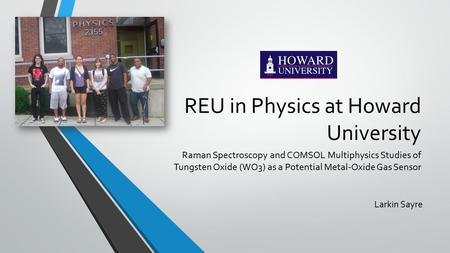 REU in Physics at Howard University
