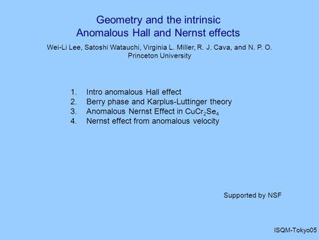 Geometry and the intrinsic Anomalous Hall and Nernst effects