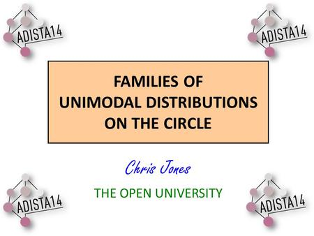 FAMILIES OF UNIMODAL DISTRIBUTIONS ON THE CIRCLE Chris Jones THE OPEN UNIVERSITY.