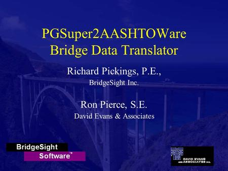 PGSuper2AASHTOWare Bridge Data Translator