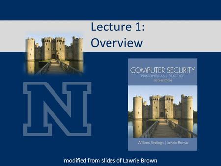 Lecture 1: Overview modified from slides of Lawrie Brown.
