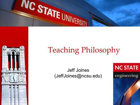 Teaching Philosophy Jeff Joines