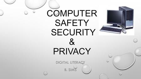 COMPUTER SAFETY SECURITY & PRIVACY DIGITAL LITERACY B. SIMS.