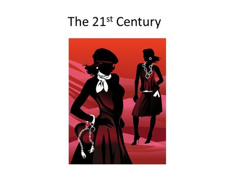 The 21 st Century. Key Terms Fast Fashion -Fast fashion is a contemporary term used by fashion retailers to express that designs move from catwalk quickly.