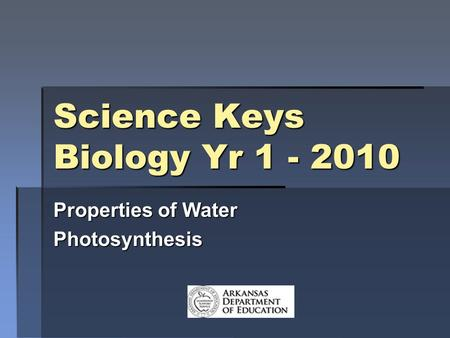 Science Keys Biology Yr