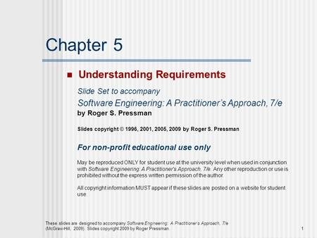 Chapter 5 Understanding Requirements