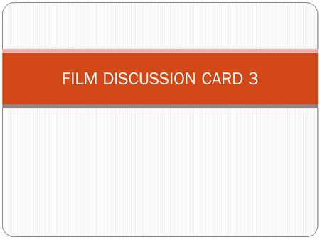 FILM DISCUSSION CARD 3. DROP-IN CENTRE UNMET NEEDS OF IDUS What are the needs of IDUs which cannot be provided for in outreach alone? Additional Services:
