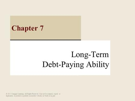 Long-Term Debt-Paying Ability