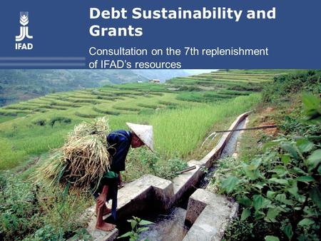 Debt Sustainability and Grants Consultation on the 7th replenishment of IFAD's resources.
