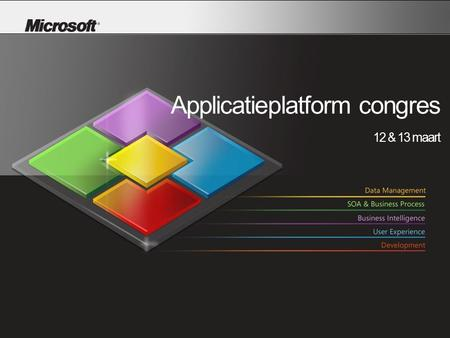 Applicatieplatform congres 12 & 13 maart. Sam Guckenheimer Microsoft Corporation.