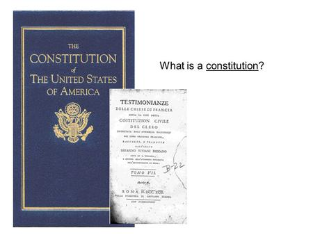 What is a constitution?. ANSWER! A framework for government.