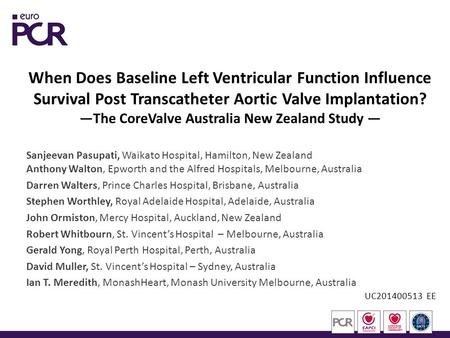 When Does Baseline Left Ventricular Function Influence Survival Post Transcatheter Aortic Valve Implantation? —The CoreValve Australia New Zealand Study.