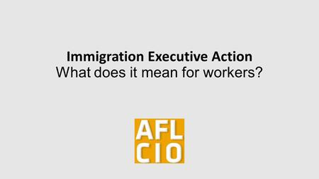 Immigration Executive Action What does it mean for workers?