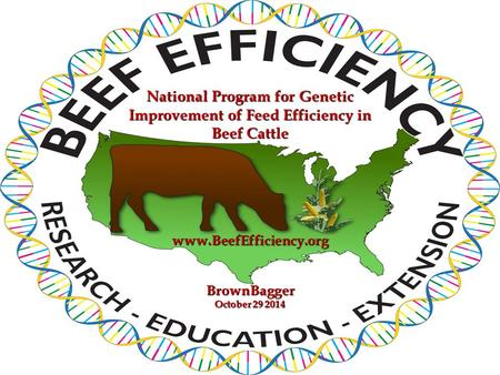 BrownBagger October 29 2014 National Program for Genetic Improvement of Feed Efficiency in Beef Cattle www.BeefEfficiency.org.