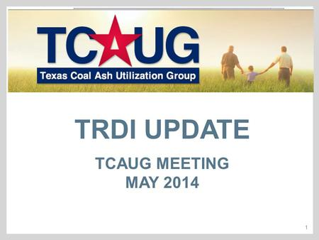 1 TRDI UPDATE TCAUG MEETING MAY 2014. 2  There is limited information on recycling activities in Texas & currently no comprehensive statewide information.