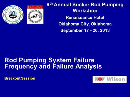 Rod Pumping System Failure Frequency and Failure Analysis