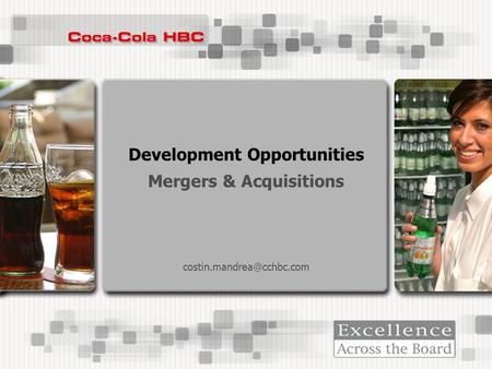 Development Opportunities <strong>Mergers</strong> & <strong>Acquisitions</strong>