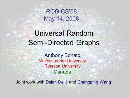 Universal Random Semi-Directed Graphs
