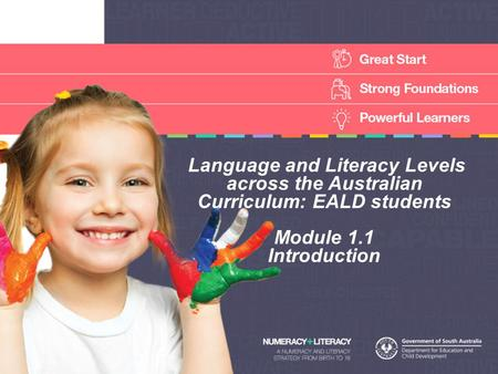 Language and Literacy Levels across the Australian Curriculum: EALD students Module 1.1 Introduction.