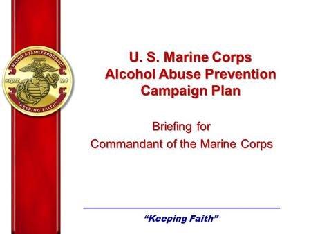 Alcohol Abuse Prevention Campaign Plan