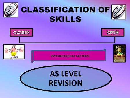 CLASSIFICATION OF SKILLS AS LEVEL REVISION PSYCHOLOGICAL FACTORS.
