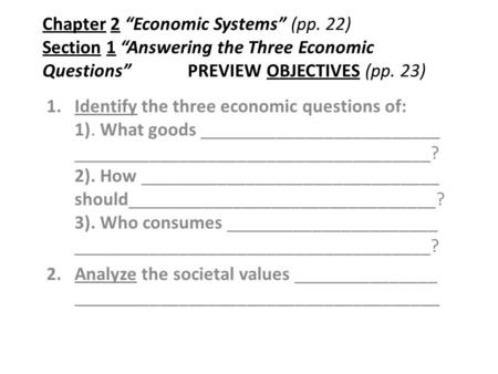 "Chapter 2 ""Economic Systems"" (pp"