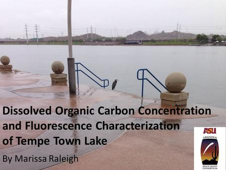 Dissolved Organic Carbon Concentration and Fluorescence Characterization of Tempe Town Lake By Marissa Raleigh.