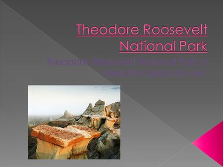  Theodore National Park was finished on November 10,1978.  This park was honored to Theodore Roosevelt.  This park 70,446.89 acres. That is smaller.