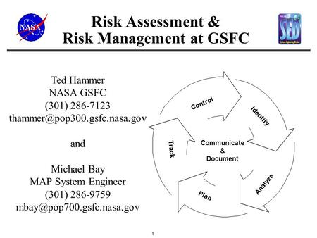 Risk Assessment & Risk Management at GSFC