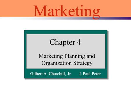 Marketing Planning and Organization Strategy