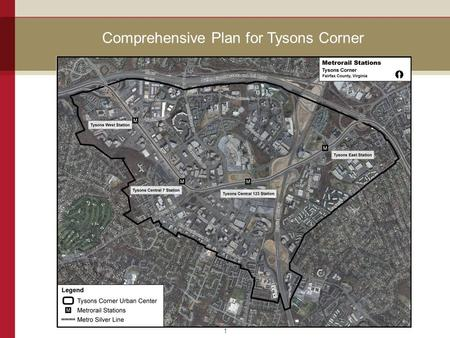 Comprehensive Plan for Tysons Corner 1. 2 Land Use Categories 1.Transit Station Mixed Use: the overall percentage of office uses throughout all of the.