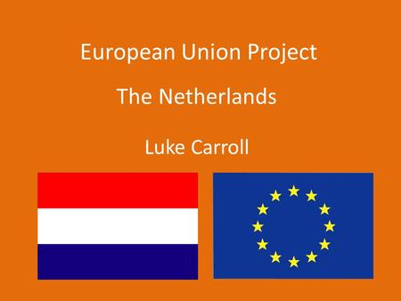 European Union Project The Netherlands Luke Carroll.
