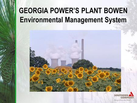 GEORGIA POWER'S PLANT BOWEN Environmental Management System
