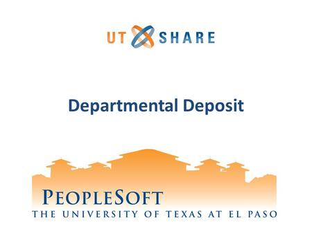 Departmental Deposit.