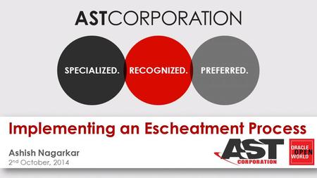 AST CORPORATION RECOGNIZED.SPECIALIZED.PREFERRED..