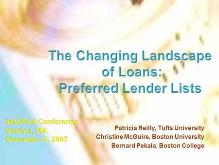 The Changing Landscape Preferred Lender Lists